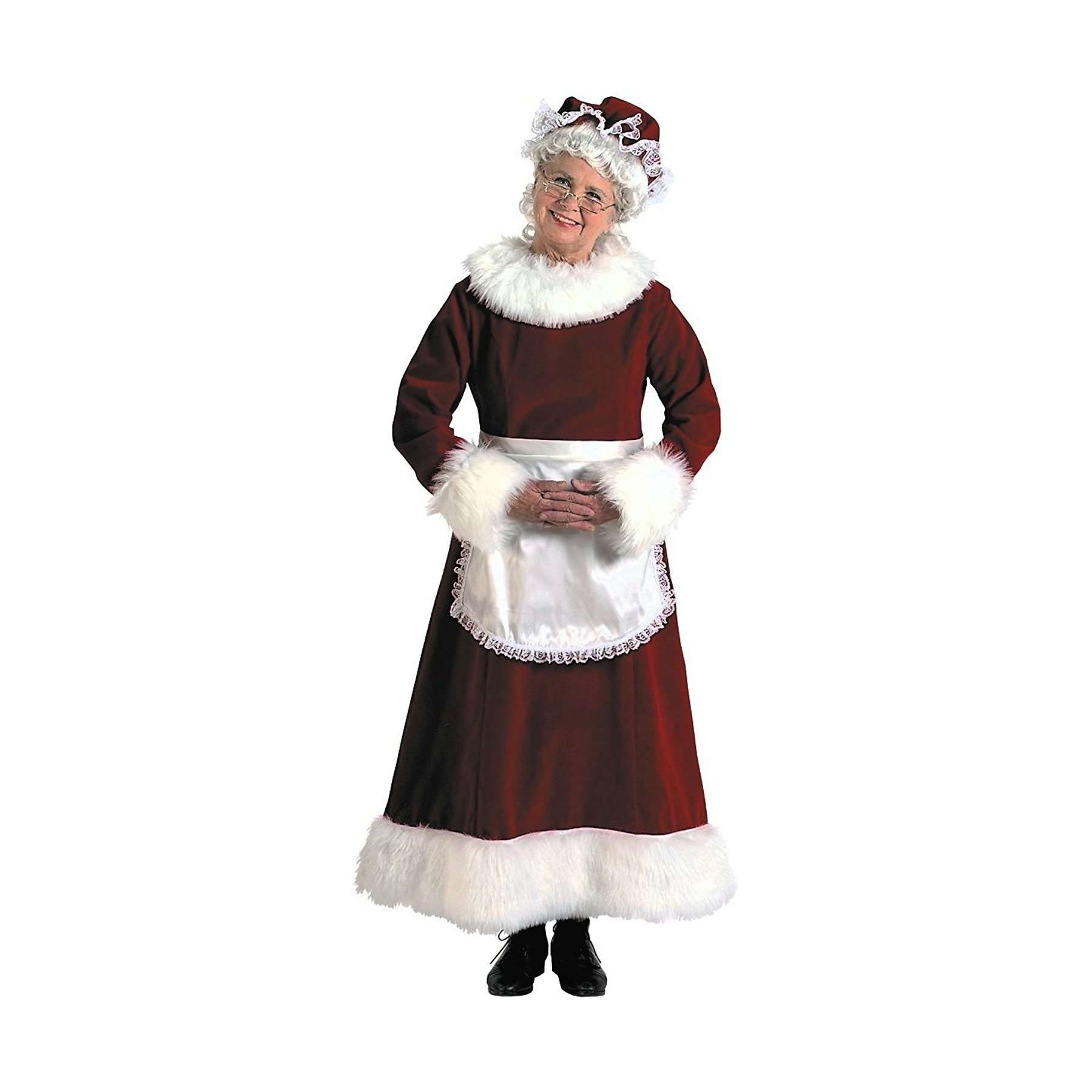 Mrs. Claus Long Velvet Dress 3