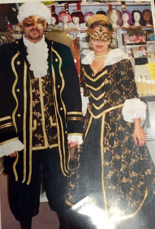 Colonial Male and Marie Antionette Black and Gold