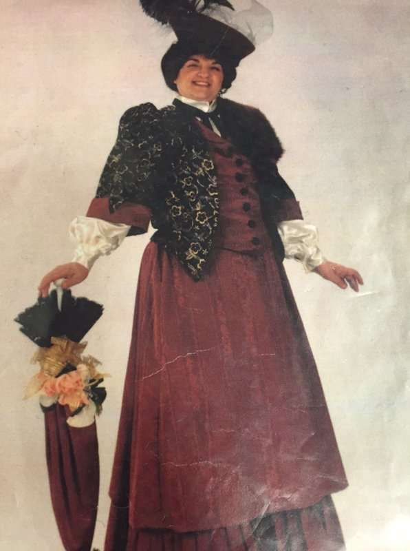 Victorian Female Burgundy