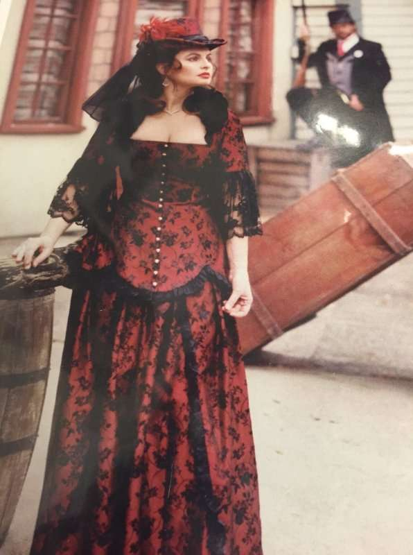 Victorian Female Burgundy and Black