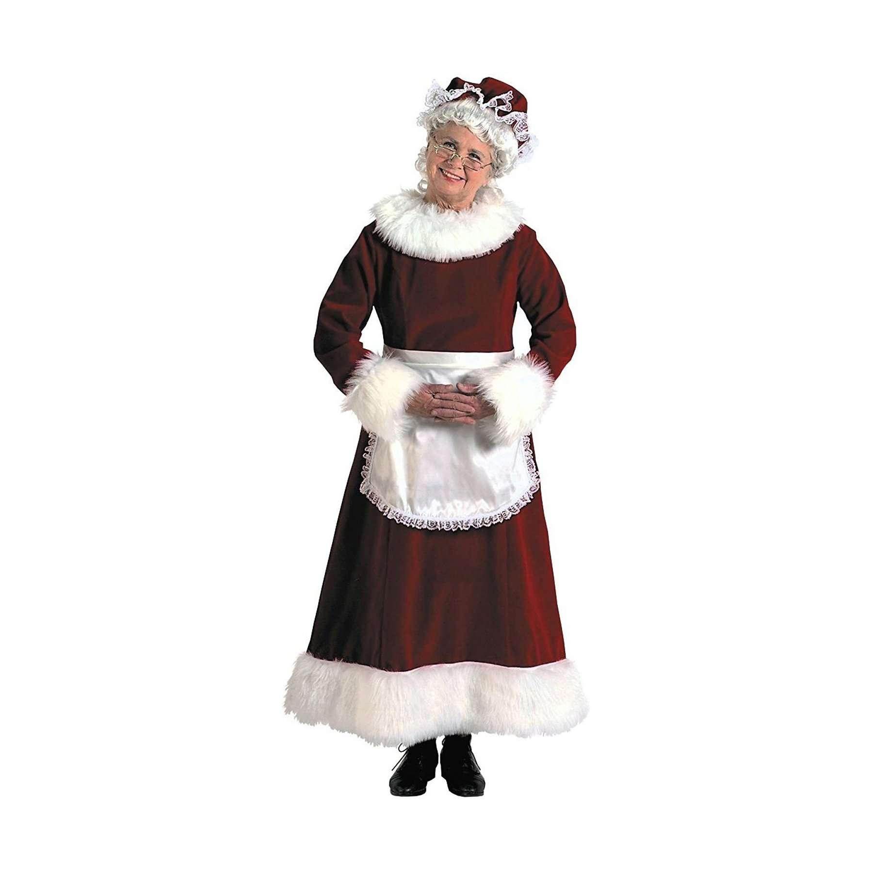 Mrs. Claus Long Velvet Dress 3